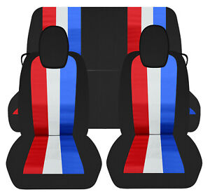 Designcovers custom fit 2010-2015 Chevy Camaro Front & rear car seat covers