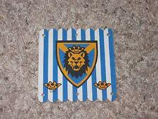 Vintage LEGO White Cloth Sail Blue Stripes Lion Head Shield Castle