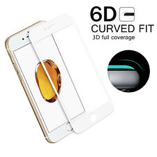 For Apple iPhone 8 Plus 3D Curved Fit Full Tempered Glass Cover 6D White