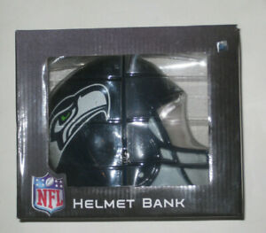 Official NFL Seattle Seahawks Helmet Coin/Money Bank from Forever Collectibles