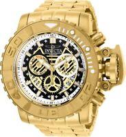 Invicta Mens 70MM Sea Hunter Gold-Tone 300M Swiss Chrono Dial SS Bracelet Watch