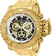 Invicta Mens 70MM Sea Hunter Gold-Tone 300M Swiss Chrono Dial SS Bracelet Watch