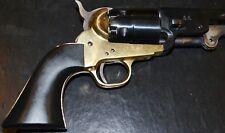 Pietta model 1851 confederate navy old style pistol grip jet black plastic