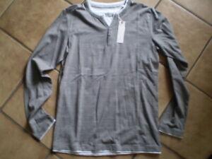 Esprit Herren Long Shirt oliv/weiß Gr. M NEU
