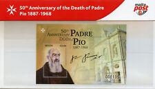 Malta 2018 MNH Saint Padre Pio 1v M/S Pres Pack Saints Religions People Stamps