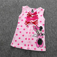 Kids Baby Girls Skirt Dress Mickey Mouse Toddler Clothes Age 9M-5Y Cute Minnie