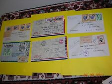 Lot 1950's Uruguay envelope covers to USA some REGISTERED PAR AVION