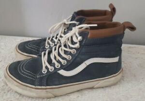 Vans Old Skool Suede Blue Skate Shoes High Top Men's Size 6 Women's Size 7.5