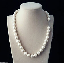 Sea Shell Pearl Necklace 18'' Natural White 10mm Real South