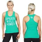 $5 GSIX Racerback Gym Top NEW Ladies Active Wear Size 8 10 14 Cotton Ribbed