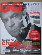 GQ magazine August 2011 Charlie Sheen Daniel Radcliffe Lauren Marshall