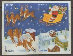 Scott #4712-15C Used Imperf. Block of 4 Christmas (Off Paper)