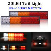 2x 20 LED Tail Light Car Truck Trailer Stop Rear Reverse Turn Indicator Lamp 12V
