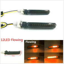 1 Pair Motorcycle LED Turn Signal Lamp Sequential Flowing Indicator Light Yellow