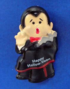 Enesco PIN Halloween Vintage DRACULA Vampire Happy HallowVeen Holiday Brooch