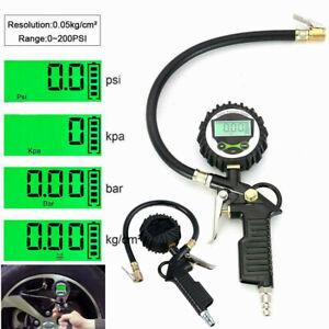 Digital Reifenfüllpistole Luftdruckprüfer Druckluft Reifenfüller Manometer DE