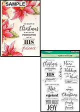 Penny Black Inc 30-384 REJOICE WITH JOY Clear Stamp Set Christmas Holidays