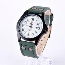 Belle Montre Militaire Quartz Homme Sport Bracelet Cuir Date Automatique PROMO