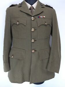 """Mens Army Vintage WW2 1940s Royal Engineers Captains Jacket - Chest 34"""""""