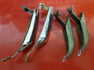 1967 1968 FORD MUSTANG CHROME BUMPER GUARDS FRONT REAR SET OF 4