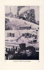 Kriegswinter Kunstdruck 1918 von Hans Baluschek * Breslau Trauer Kälte Schnee