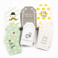 50pcs Paper Tags with String DIY Crafts Labels Luggage Wedding Party Favor Decor