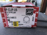 """Spears 3/4"""" Top pipe Clamp Clic Hanger Lot of 50 Plumbing Supplies"""