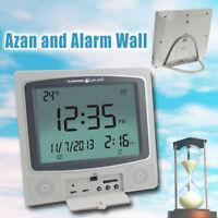 Digital Wall Muslim Azan Clock Pray Alarm Clock With Automatic Fajr Qibla
