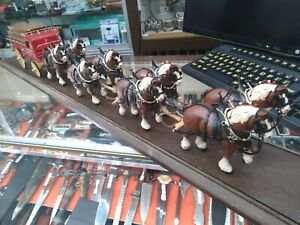 BUDWEISER CHAMPION CLYDESDALE TEAM, 8-HORSE HITCH w/ WAGON - LOCAL PICKUP ONLY