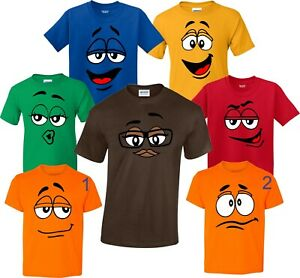 M and M Halloween Faces Candy Birthday Christmas family T-Shirts