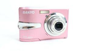 SANYO VPC-S750 ~ 7.1MP3x Zoom ~  DIGITAL CAMERA  ~ Pink ~