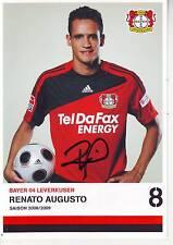 FOOTBALL carte joueur RENATO AUGUSTO équipe BAYER LEVERKURSEN signée