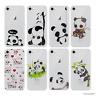 Panda Coque/Étui/Case pour iPhone SE/5/6/7/8 Plus +Samsung Galaxy S6/S7/Edge/S8