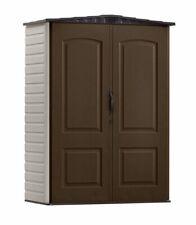 Rubbermaid Storage Shed 2 ft. 4 in. x 4 ft. 8 in. Double Door Plastic Beige