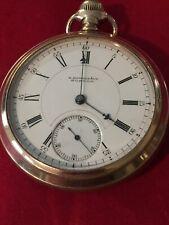 "E. Howard Pocket Watch , Running Deer ""N "" 18s, 15 J, 305190 Serial , 14 K G. F."