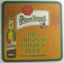 PILSNER URQUELL The ORIGINAL GOLDEN BEER foreign COASTER, MAT, CZECH REPUBLIC