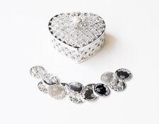Silver Elegant Rhinestone Heart Wedding Arras Box Set with Unity Coins SH01