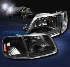 1997-2003 F-150/2002 EXPEDITION CRYSTAL HEAD LIGHT+CORNER+8000K HID BLACK/AMBER