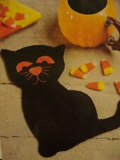 QUILT PATTERN  HALLOWEEN SCARED CAT MUG RUG PLACEMAT    APPLIQUE PATTERN