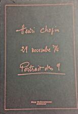 Henri CHOPIN - 29 novembre 74, Portrait des 9. EO numérotée signée (G.SCHRAENEN)