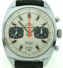 Dugena Vintage Chronograph Panda Dial Handaufzug Valjoux 7734 extrem selten