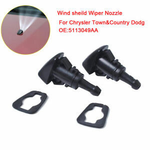 WINDSHIELD WASHER FLUID NOZZLE FOR DODGE RAM 1500 2500 3500 2011-2017 5113049AA