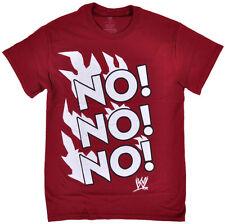 WWE NO NO NO Daniel Dan Bryan T-Shirt Maroon Wrestling WWF NXT Licensed S NEW