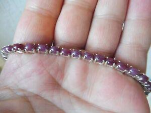 Edles Armband  , 925 Silber mit schönem Steinenbesatz   !