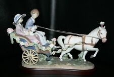 BEAUTIFUL Lladro 5718 A RIDE IN THE PARK Flowers Pony Cart Buggy Lmt Edt Signed