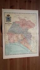1903 MAPA de Huelva 1901 por Benito Chias y Carbo (Spain Map España Spagna)