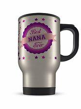 14oz best nana jamais cadeau fantaisie aluminium tasse de voyage-rose/violet