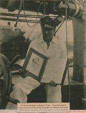 John Barrymore Aboard His Yatcht, the Mariner
