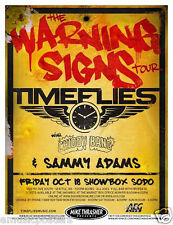 TIMEFLIES/CHIDDY BANG/SAMMY ADAMS 2013 SEATTLE CONCERT TOUR POSTER-Hip Hop Music