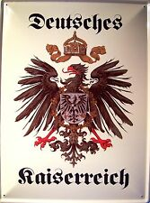Deutsches Kaiserreich Blechschild Schild gewölbt Metal Tin Sign 30 x 40 cm